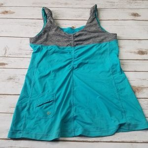 Lululemon gray and blue tank top in size 8